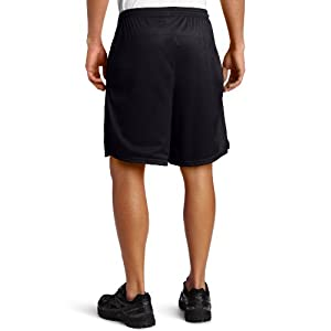 Champion Men's Long Mesh Short With Pockets,Black,LARGE