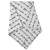 Swaddle Blankets for Baby,100% Cotton Muslin 47 x 47 inch Baby Blankets Cloth Diapers for Wrapping and Swaddling Infants (Fish Bones)
