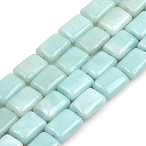 (Natural Amazonite Gemstone Loose Beads in Bulk Beads for Jewelry Making Wholesale Beads One Strand 15