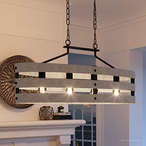 Luxury Modern Farmhouse Chandelier, Large Size: 17