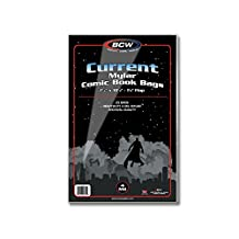 (50) Current Age Archival Mylar 4 Mil Polyester Comic Book Bags By BCW