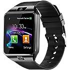 DZ09 Bluetooth Smart Watch - WJPILIS Smart Wrist Watch Smartwatch Phone Fitness Tracker SIM Card Slot Camera Pedometer Compatible iOS iPhone Android Samsung Phones Women Kids Men (Black)
