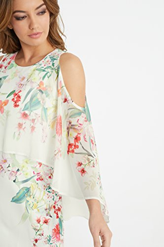 2db7ebcb38cc LIPSY Women Amy Floral Print Cape Sleeve Bodycon Dress - Buy Online ...