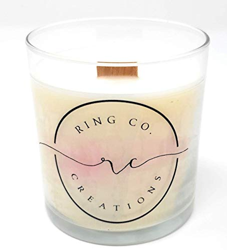 Soy Candle, Wooden Wick, 8 oz, 50 Hour Burn Time, Caribbean Teak Scent with notes of Teakwood, Amber, Sandalwood, Dark Musk, Glass Jar with Silver Lid ()