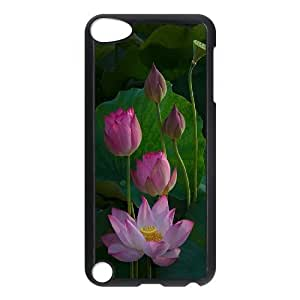 LZHCASE Design Phone Case Water Lily For Ipod Touch 5 [Pattern-1]