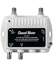 Channel Master CM-3412 2-Port Ultra Mini Distribution Amplifier for cable and antenna Signals