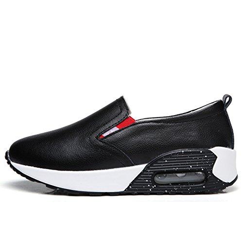 Cybling Confortable Faible Coin Sport Athlétique Chaussures Épais Semelle De Voyage Sneaker Pour Les Femmes Noires