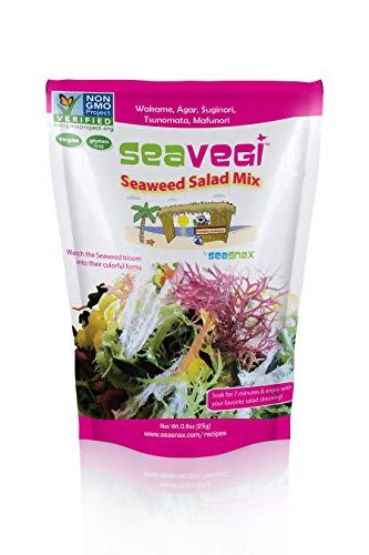 SeaVegi Seaweed Salad Mix, 12 Count (Food Seaweed Salad)