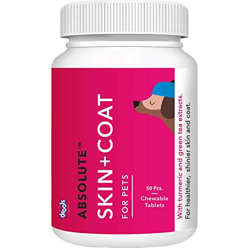 Drools Absolute Skin + Coat Tablet- Dog Supplement, 50 Pcs