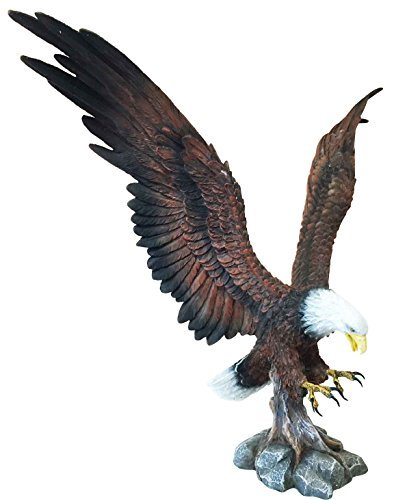 (Ebros Large Rocky Mountain Grand Bald Eagle Descending on Prey Statue Patriotic American Home Decor Figurine Or as Religious Inspiration Decorative Sculpture Of Eagles Wildlife Birds 4th Of)