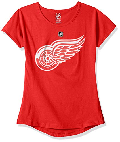 etroit Red Wings Youth Girls Primary Logo Basic Short Sleeve Tee, Red, Youth X-Large(16) ()