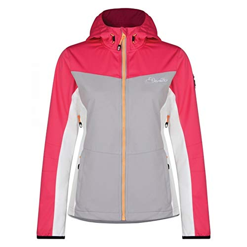 (Dare2b Womens/Ladies Sovereign Softshell Jacket (US Size 2) (Telemagenta/Light Gray))