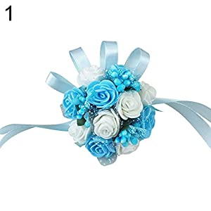 essibly11jmp Bracelet Bridesmaid Sisters Hand Flower Wrist Corsage Wedding Party Accessories 68