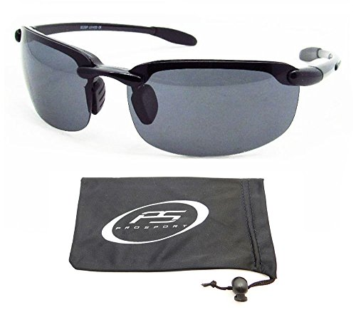 Polarized Sunglasses with prmium TAC Polarized lenses and ultra light rimless frames. Fits Asian Faces. Free Microfiber Cleaning Case - Frames Faces Asian For Best