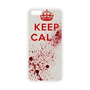 Custom Scary Bloody Hands,keep Calm Help Me Apple Iphone 6 - 4.7 Inch Plastic and TPU (Laser Technology) Durable Case