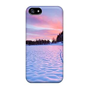 diy zhengNew Arrival Cover Case With Nice Design For Ipod Touch 4 4th //- Frozen Lake Sunset