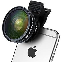 Teléfono celular Kit de lente–TURATA 2en 1Profesional cámara HD lente de cámara Gran Angular 0.45x & 12,5x Lente Macro para iphone76S 6S Plus 6Plus 5s & la mayoría de Smartphone, tablet, Negro