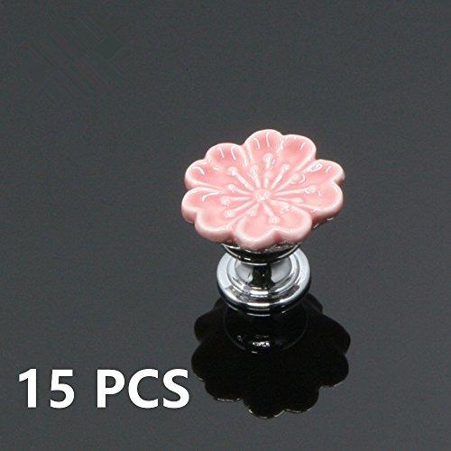 Flower Ceramic Drawer Pull - 5