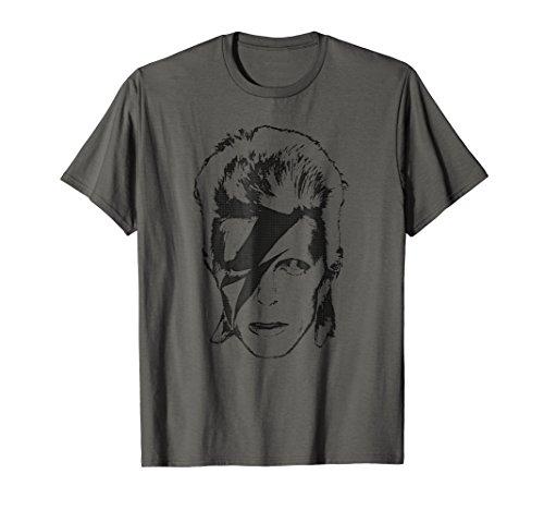 Aladdin Sane Bowie Lightning Make-Up T-Shirt for Adults, Kids, 5 Colors