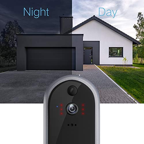 GJT 2018 New Smart Video Doorbell Wireless Home Security Camera with Chime, 8G SD Card, Free Cloud Service, 2 Batteries, 2-Way Talk 720P, Night Vision, PIR Detection, APP Control for iOS and Android by GJT (Image #3)