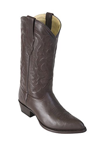 Leather Los Western Men's Brwon Boots Skin Genuine Goat Toe Altos J qxAxwf41