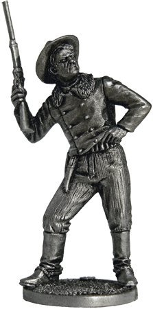 Сowboy Tin Toy Soldiers Metal Sculpture Miniature Figure Collection 54mm (scale 1/32) (WW-6)