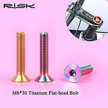 RISK Bicycle Cycling Stem Headset Top Cap Cover M6 Screw Bycicle Components