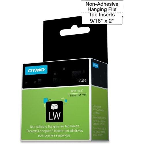 DYMO 30376 LabelWriter Hanging File Folder Tab Inserts, 9/16 x 2, White, 260 Labels/Roll