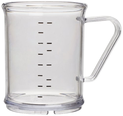 "Carlisle 431507 Polycarbonate Measuring Cup, 9.6 oz. Capacity, 3 x 3.74"", Clear (Case of 6)"