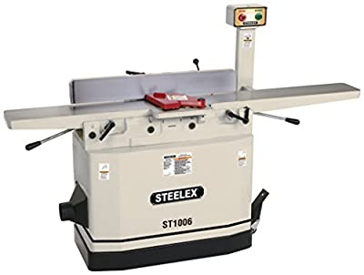 """Steelex ST1006 Jointer with Adjustable Beds, 8"""" by Woodstock International"""