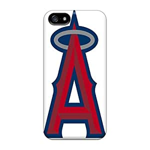 Excellent Iphone 5/5s Case Tpu Cover Back Skin Protector Los Angeles Angels