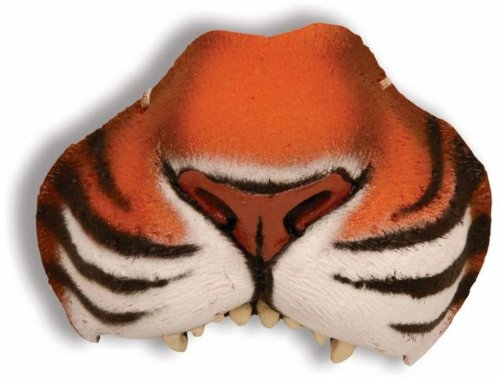 Tiger Costume Nose (Nose jungle tiger with elastic)