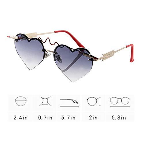 Amazon.com: Monique - Gafas de sol con forma de corazón para ...
