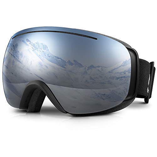 Terra Hiker 스키 고글 안경 대응 VLT18.5%/28% 스노보드 고글 100%자외선 방지 스노우 고글 흐려 방지 유니섹스