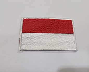 Flag of Indonesia. Sew On Cloth Patch. 8cm x5cm