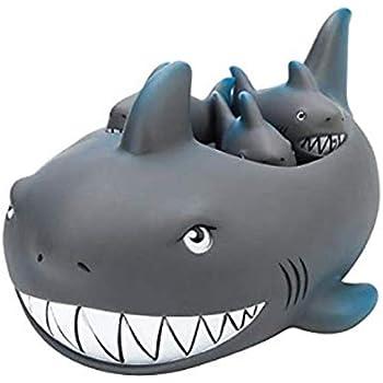 Rubber Shark Family Bathtub Pals - Floating Bath Tub Toy
