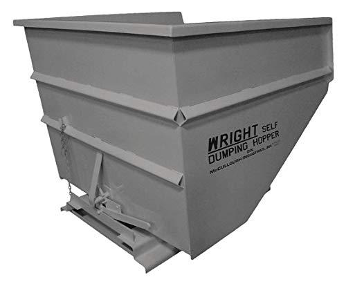 (Gray Self-Dumping Hopper, 81.0 cu. ft, 5000 lb. Load Cap, 55