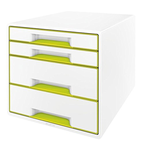 Leitz Buc de 4 cajones 52521095 Negro//Gris Dual Colour organizador de escritorio