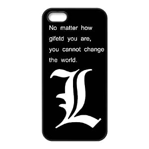 iPhone 5 5s Cell Phone Case Black Death Note wnra