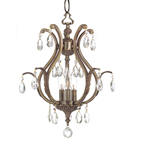 Gramercy Crystal Mini Chandelier in Pewter Crystal Type: Clear Swarovski Spectra