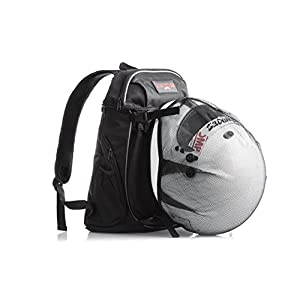 Motorcycle Travel Backpack with Helmet Holder: Water Resistant Cycling or Tactical Molle Biking Pack for Dirt, Road, or Sport Bikes; Durable Lightweight TSA Compliant Carry On Day Bag for Men or Women