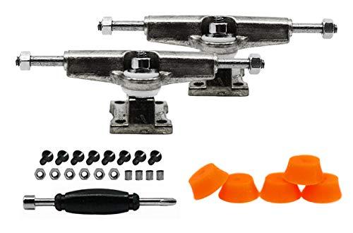 티크 튜닝 지판 스페이서 트럭 크롬 실버-5 오렌지 버블 부싱 세트 포함-32MM 너비-조정 및 조립