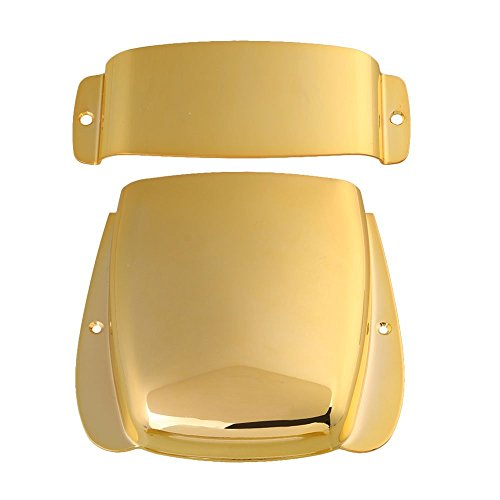 LYWS Zinc Alloy Pickup & Bridge Plate Cover Set for JB Electric Bass Guitar (Gold)