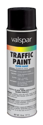 Valspar 82002 APWA Black Traffic Paint - 18 oz.