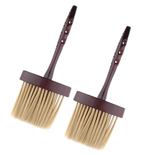 (Professional Hair Cutting Neck Duster Wood Handle for Hair Stylist Barber)