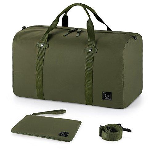 GAGAKU 45L Foldable Travel Duffel Bag Packable Lightweight Duffle Large Flight Cabin Bags for Travel - Green