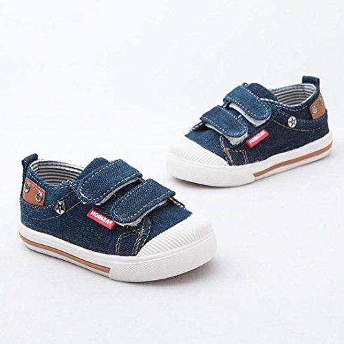 Huhu833 Kinder Mode Baby Schuhe Leinwand Schuhe Frühling Herbst Babyschuhe Kleinkind Schuhe Dunkel Blau
