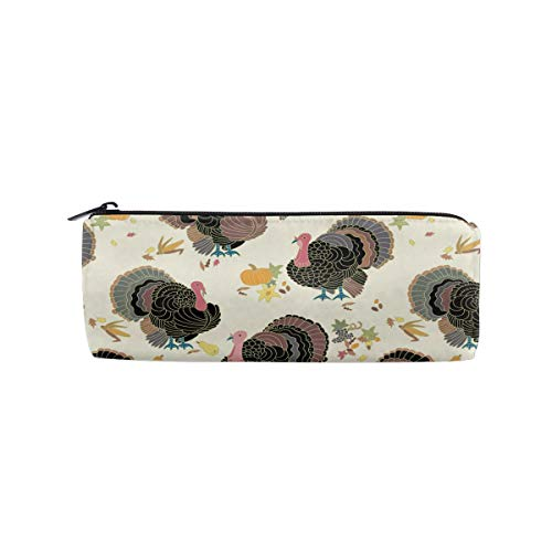 ALLDET Thanksgiving Turkey Students Pencil Case Pen Pouch Work Office Craft Supplies Boys Girls ()