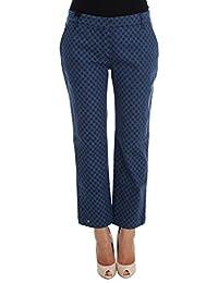 Polka Dotted Stretch Capri Jeans