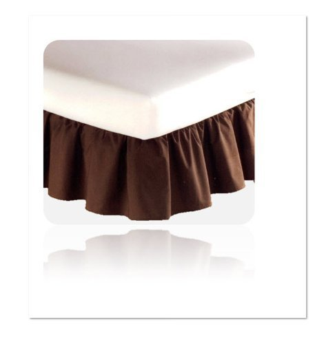 MAINSTAYS 180 Thread count Bedskirt TWIN Dark Brown Bed Skirt by MAINSTAYS